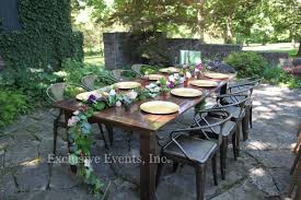 chair endearing outdoor farm table 28 seating vintage arm chairs rustic backyard at home event party