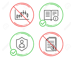 Do Or Stop Candlestick Graph Technical Info And Security Icons
