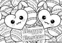 Easter Coloring Pages Free Printable With Awesome Easter Coloring