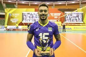 Maique é eleito o melhor jogador da final. Foto: Reprodução/William Lucas/CBV