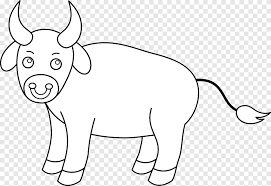 Perfect for chinese new year, or perhaps a nativity scene. Cattle Bull Drawing Black And White Ox White Mammal Png Pngegg