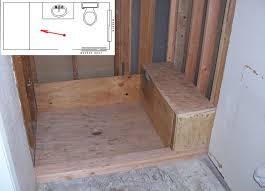 framing shower bench seat