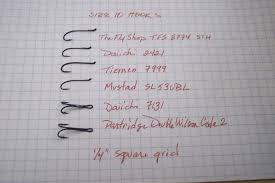 The Rivers Course Size 10 Hook Comparison Chart Upgrade