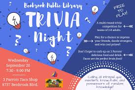 Trivia Night Flyer Poster Size The Shelf Life