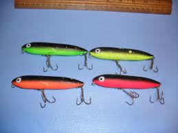Color C Lector Chart S863 Rare Color C Lector Heddon Zara Spook Fishing Lures Lot