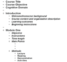 Course Outline Template Sample For Book Review New Contactory Co