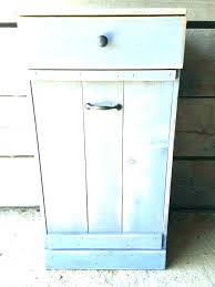 wooden trash can cabinet kitchen wood containers bin for diy