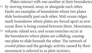 new sat reading practice test net the following is from a passage about continental drift and plate tectonics from science world