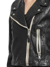 isabel marant etoile aken nappa crop jacket