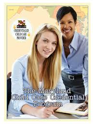 Credentialing Program Booklet By Maryland Division Of Early