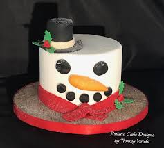 Top Hat Cake Designs Snowman Christmas Cake With A Top Hat And Scarf Christmas