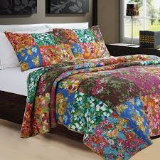 Aliexpress.com - Online Shopping for Electronics, Fashion, Home ... & FADFAY Home Textile 100% Cotton Reversible Bohemian Bedding Set Queen Size Patchwork  Quilt Bedspread Set Adamdwight.com