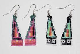 navajo bead designs. Simple Navajo BEADED EARRING 27 STEP  Native American Design Step Earrings Intended Navajo Bead Designs B