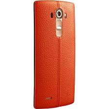 lg genuine leather back cover for the lg g4 orange leather 1