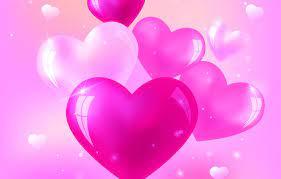 Wallpaper love, pink, heart, hearts ...