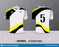 Football Shirt Designs Football Shirt Design T Shirt Sports Black And Yellow Color
