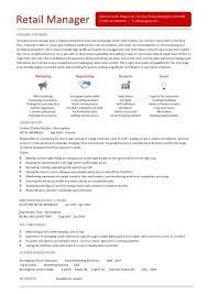 Retail Manager Resume Templates Mesmerizing Store Manager Resume Template Kenicandlecomfortzone