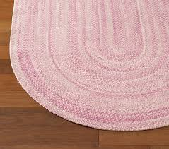 pink chenille braided rug swatch pottery barn kids