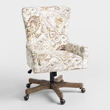 upholstered office chairs. Natural Paisley Trystan Upholstered Office Chair Chairs