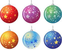 Christmas tree balls with stars vector