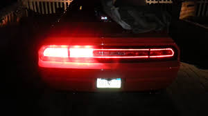 Challenger Sequential Lights Challenger Sequential Tail Lights Youtube