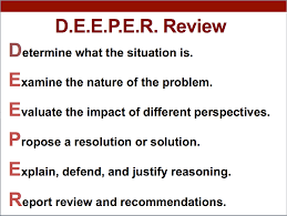 h o t d o k going d e e p e r problem solving and d e e p e r review involves students analyzing and evaluating how a particular issue problem or situation was addressed handled settled or solved and