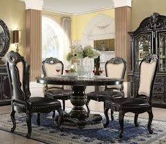 60 inch round dining room table elegant aberdeen 60 round ebony gold dining table
