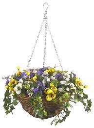smart solar easy artificial hanging basket pansies smart garden s the garden bbq centre keen gardener