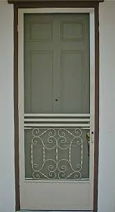 swinging screen door installation gallery