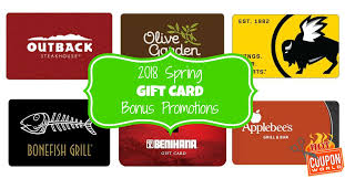 restaurant gift card bonus promotions for spring gifting hot coupon world