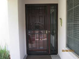 steel screen door with glass