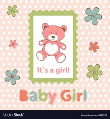 Announcement For Baby Girl Baby Girl Arrival Announcement Card Royalty Free Vector