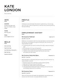 Dog Groomer Resume 24 X Pet Groomer Resume Templates ResumeViking 4