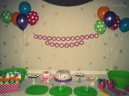 sunny tuesday polka dot first birthday party the decorations