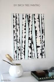 diy birch tree art make your own wall art with this super easy step