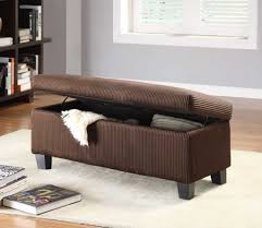 Ottoman Bedroom Furniture Furniture Dark Brown Fabric Ottoman Storage Bench For Bedroom
