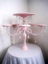 cake and cupcake stand chandelier