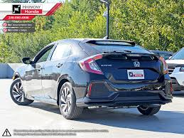 honda civic 2018 black. unique honda blackcrystal black pearl 2018 honda civic hatchback left side rear seat  photo in in honda civic black