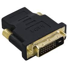 Купить <b>Переходник HAMA</b> h-34035, DVI-D (m) - <b>HDMI</b> (<b>f</b>) , черный ...
