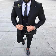 Coat Suit Design Us 80 24 25 Off 2019 Latest Coat Pant Designs Slim Fit Street Smart Business Men Suit 3 Piece Wedding Suits For Men Tuxedo Groom Best Man Suit In