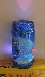 Finding Nemo Night Light Finding Nemo Dory Upcycled Jar Photo Decoupage Luminary