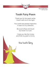 Tooth Fairy Poem Funny