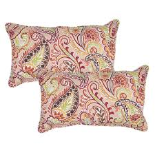 chili paisley lumbar outdoor throw pillow pack of 2