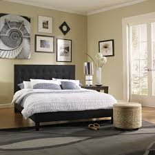 Mckenzie Bedroom Furniture Rest Rite Mckenzie Black Queen Upholstered Bed Hcmckbedblqn The
