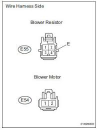 toyota rav4 service manual blower motor circuit diagnostic toyota rav4 check wire harness blower resistor blower motor
