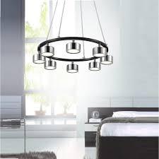 cwi lighting trail 24 watt chrome integrated led chandelier