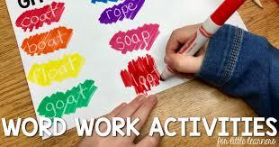 Activities Word Word Work Activities Lucky Little Learners