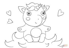 Disegno Di Unicorno Cucciolo Da Colorare Disegni Da Colorare E Con