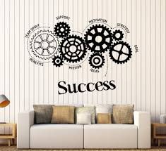 office motivation ideas. Vinyl Wall Decal Success Words Gears Office Motivation Stickers Unique Gift (ig4481) Ideas T