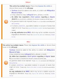 Wikipedia Layout Template File Multiple Issues Template Layout Change Proposal Png Wikipedia